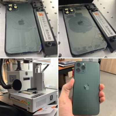 Výměna zadního skla na iPhone