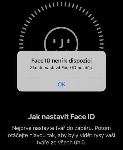 Face ID nefunguje